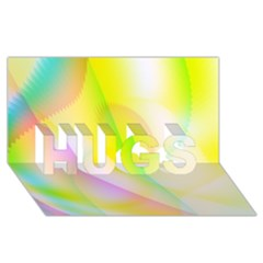 New 5 Hugs 3d Greeting Card (8x4)  by timelessartoncanvas