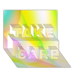 New 5 Take Care 3d Greeting Card (7x5)  by timelessartoncanvas