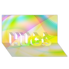 New 6 Hugs 3d Greeting Card (8x4)  by timelessartoncanvas