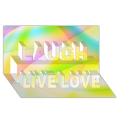 New 6 Laugh Live Love 3d Greeting Card (8x4)  by timelessartoncanvas