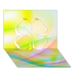 New 7 Clover 3d Greeting Card (7x5)  by timelessartoncanvas