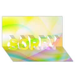 New 7 SORRY 3D Greeting Card (8x4)  by timelessartoncanvas