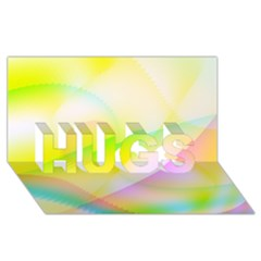 New 7 Hugs 3d Greeting Card (8x4)  by timelessartoncanvas