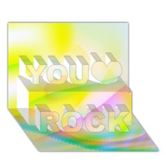New 7 You Rock 3d Greeting Card (7x5)  by timelessartoncanvas