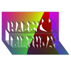 New 9 Happy Birthday 3d Greeting Card (8x4)  by timelessartoncanvas