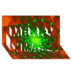 New 10 Merry Xmas 3d Greeting Card (8x4)  by timelessartoncanvas