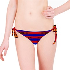 Bright Blue Red Yellow Mod Abstract Bikini Bottom by BrightVibesDesign