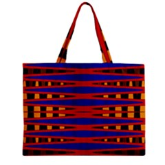 Bright Blue Red Yellow Mod Abstract Zipper Mini Tote Bag by BrightVibesDesign