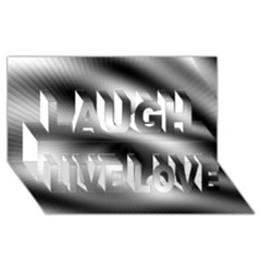 New 12 Laugh Live Love 3d Greeting Card (8x4)  by timelessartoncanvas