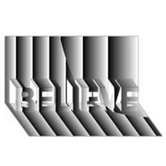 New 13 Believe 3d Greeting Card (8x4)  by timelessartoncanvas