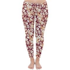 Officially Sexy Coffee & Cream Cracked Pattern Winter Leggings  by OfficiallySexy