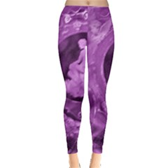 Vintage Purple Lady Cameo Leggings  by BrightVibesDesign