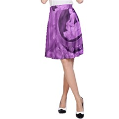 Vintage Purple Lady Cameo A Line Skirt by BrightVibesDesign