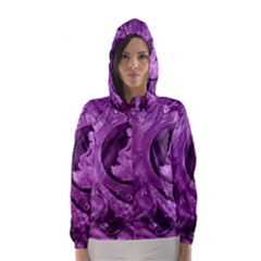 Vintage Purple Lady Cameo Hooded Wind Breaker (women) by BrightVibesDesign