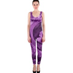 Vintage Purple Lady Cameo Onepiece Catsuit by BrightVibesDesign