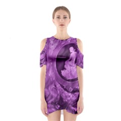 Vintage Purple Lady Cameo Women s Cutout Shoulder Dress by BrightVibesDesign