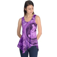Vintage Purple Lady Cameo Sleeveless Tunic by BrightVibesDesign