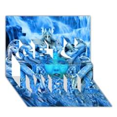 Medusa Metamorphosis Get Well 3d Greeting Card (7x5)  by icarusismartdesigns