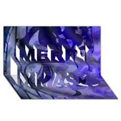 Blue Theater Drama Comedy Masks Merry Xmas 3d Greeting Card (8x4)  by BrightVibesDesign