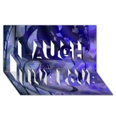 Blue Theater Drama Comedy Masks Laugh Live Love 3D Greeting Card (8x4)  by BrightVibesDesign