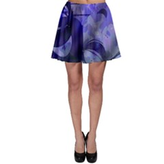 Blue Comedy Drama Theater Masks Skater Skirt by BrightVibesDesign