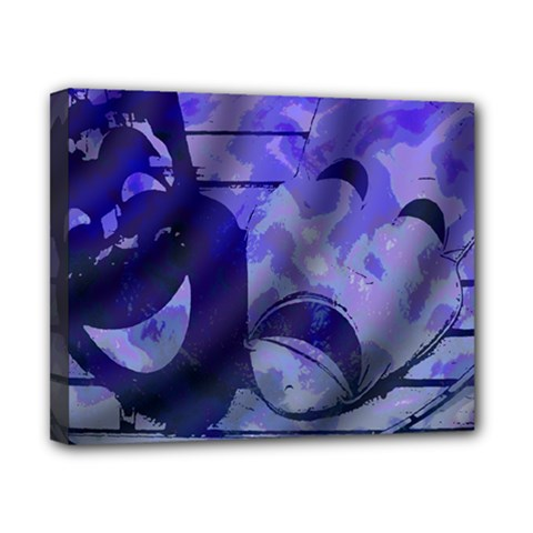 Blue Comedy Drama Theater Masks Canvas 10  X 8  by BrightVibesDesign