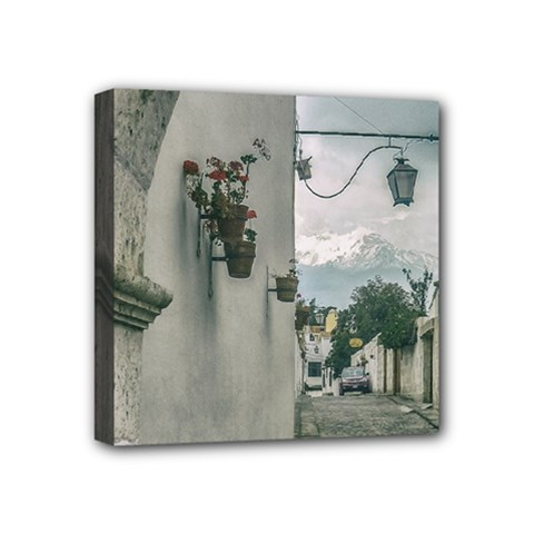 Colonial Street Of Arequipa City Peru Mini Canvas 4  X 4  by dflcprints