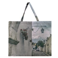 Colonial Street Of Arequipa City Peru Zipper Large Tote Bag by dflcprints