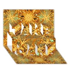 Digital Abstract Geometric Collage Take Care 3d Greeting Card (7x5)  by dflcprints