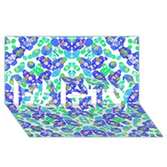 Stylized Floral Check Seamless Pattern Party 3d Greeting Card (8x4)  by dflcprints