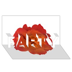 Red Rose Photo PARTY 3D Greeting Card (8x4)  by dflcprints