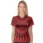Red Lagoon Women s V-Neck Sport Mesh Tee