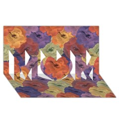 Vintage Floral Collage Pattern Mom 3d Greeting Card (8x4)  by dflcprints