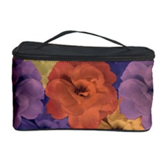 Vintage Floral Collage Pattern Cosmetic Storage Cases by dflcprints