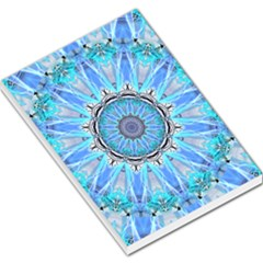 Sapphire Ice Flame, Light Bright Crystal Wheel Large Memo Pads by DianeClancy