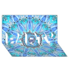 Sapphire Ice Flame, Light Bright Crystal Wheel Party 3d Greeting Card (8x4)  by DianeClancy