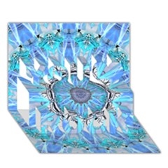 Sapphire Ice Flame, Light Bright Crystal Wheel You Rock 3d Greeting Card (7x5)  by DianeClancy