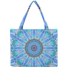 Sapphire Ice Flame, Light Bright Crystal Wheel Mini Tote Bag by DianeClancy
