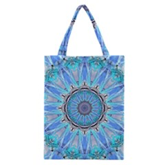Sapphire Ice Flame, Light Bright Crystal Wheel Classic Tote Bag by DianeClancy