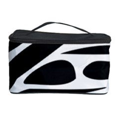 Zebra Stripes Skin Pattern Black And White Cosmetic Storage Cases by CircusValleyMall