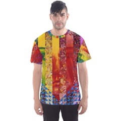 Conundrum I, Abstract Rainbow Woman Goddess  Men s Sport Mesh Tee by DianeClancy