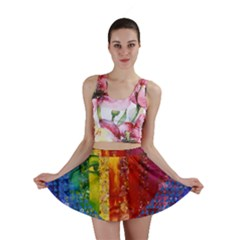 Conundrum I, Abstract Rainbow Woman Goddess  Mini Skirts by DianeClancy