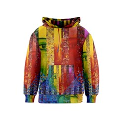 Conundrum I, Abstract Rainbow Woman Goddess  Kids  Pullover Hoodie by DianeClancy