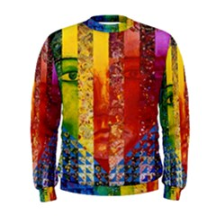 Conundrum I, Abstract Rainbow Woman Goddess  Men s Sweatshirt by DianeClancy