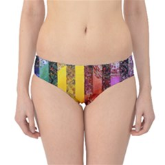 Conundrum I, Abstract Rainbow Woman Goddess  Hipster Bikini Bottoms by DianeClancy