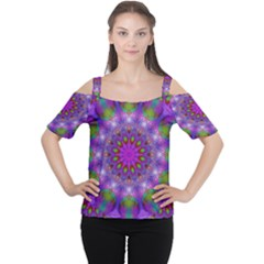 Rainbow At Dusk, Abstract Star Of Light Women s Cutout Shoulder Tee by DianeClancy