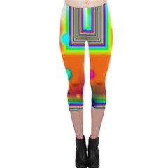 Crossroads Of Awakening, Abstract Rainbow Doorway  Capri Leggings  by DianeClancy