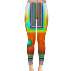 Crossroads Of Awakening, Abstract Rainbow Doorway  Winter Leggings  by DianeClancy