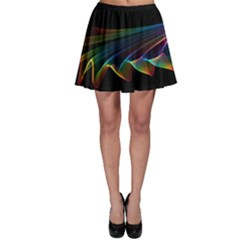 Flowing Fabric Of Rainbow Light, Abstract  Skater Skirt by DianeClancy