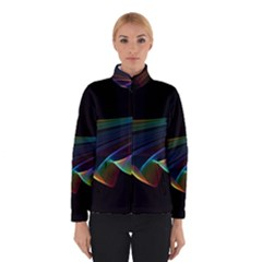 Flowing Fabric Of Rainbow Light, Abstract  Winterwear by DianeClancy